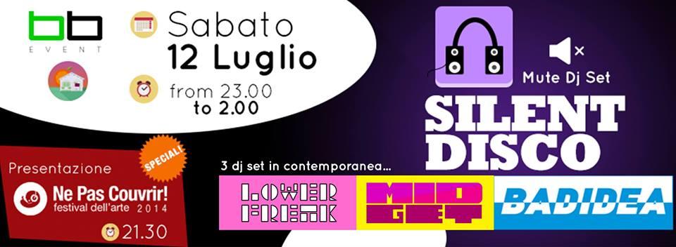BB_Event – SILENT DISCO – Sabato 12 Luglio