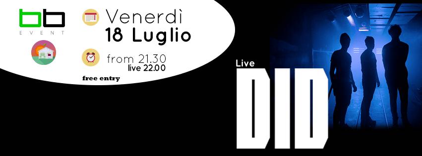 BB_EVENT – DID live – Venerdì 18 Luglio